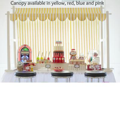 Lolly Shop Canopy Display - Available in pink, red, blue & yellow