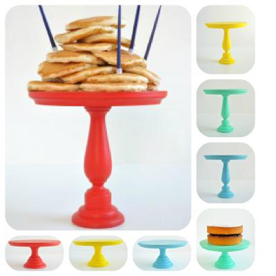 Wooden Coloured Cake Stands