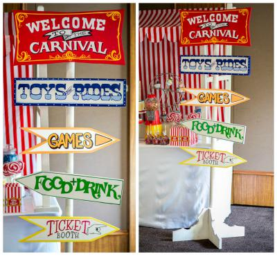 Carnival Circus Directional Sign