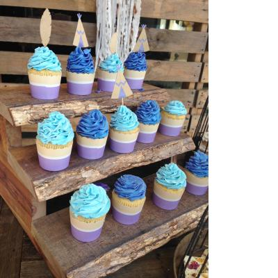 Three Tier Rustic Cupcake Stand