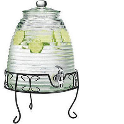 Bee Hive Drink Dispenser with Stand