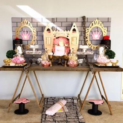 Princess Gold Castle Prop / Cupcake Stand